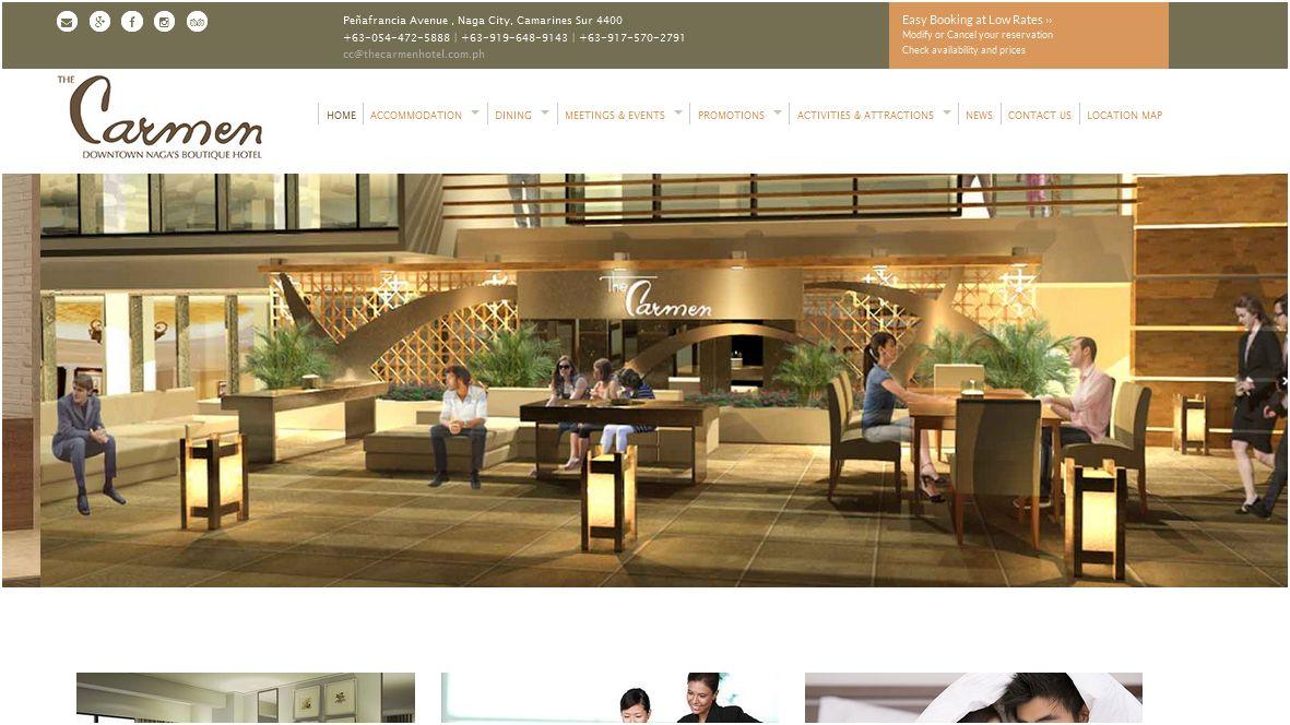 The Carmen Hotel Website