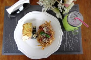 Baked Salmon and Pasta by Jimmy & Tang's
