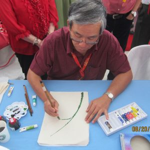 Eng'r Felix Chan Lim Chinese Painting Demo