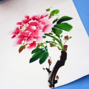 Chinese peony painting