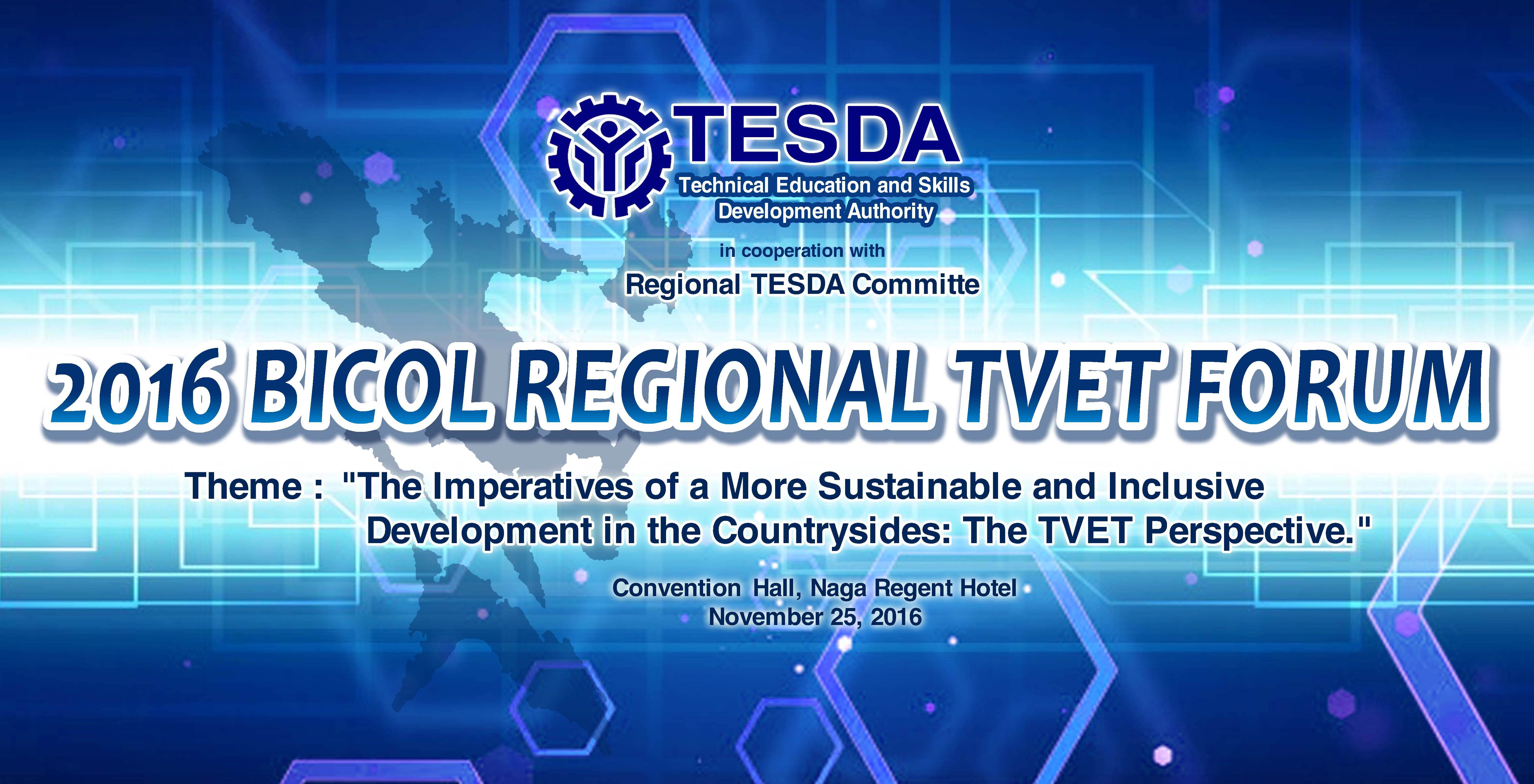 2016 Bicol Regional Tvet Forum  With Its Theme   U0026quot The