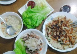 Samgyeopsal and Seafood Pancake - MannA Korean Food