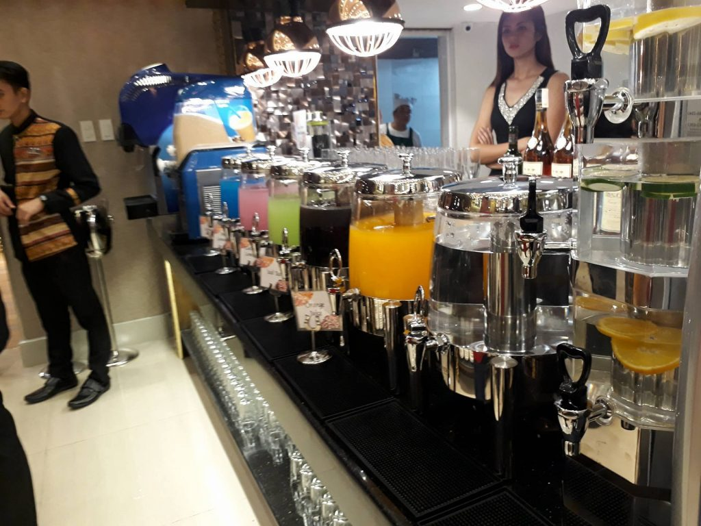 villa caceres hotel rjs buffet drinks station