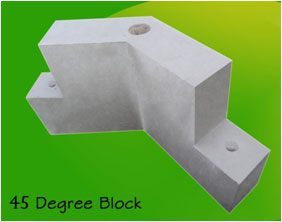 45 degree block