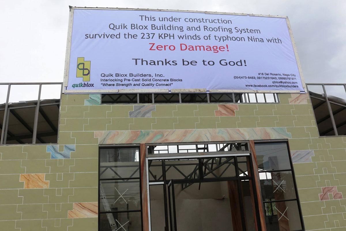zero damage typhoon quikblox building