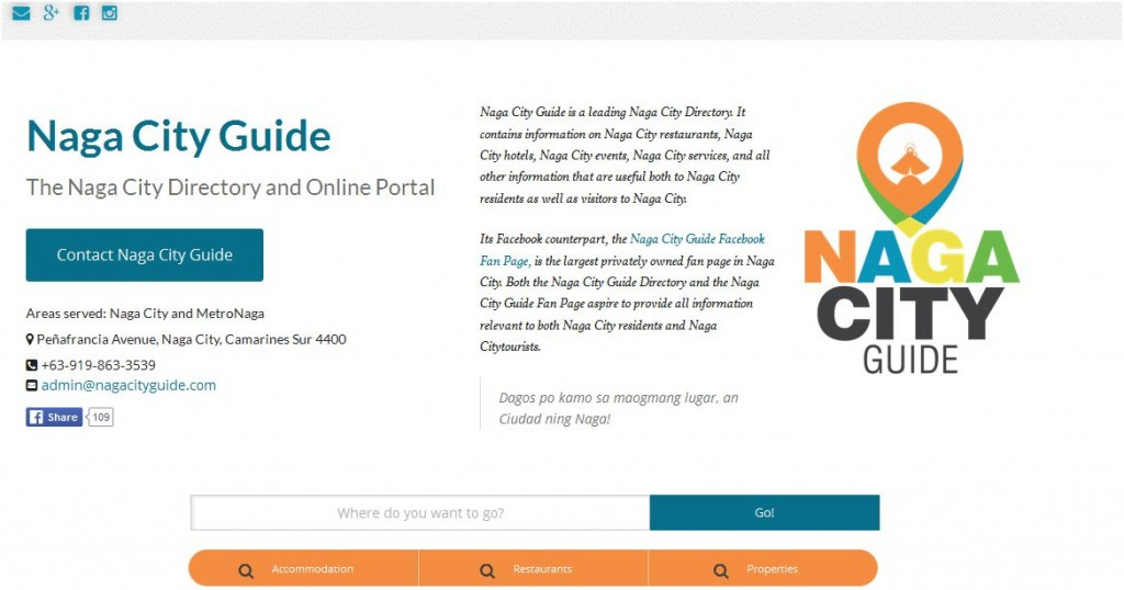 Naga City Guide Website