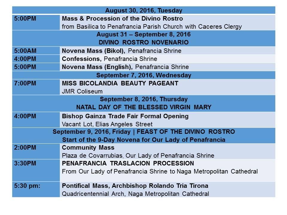Peñafrancia Fiesta 2016 Schedule_p2