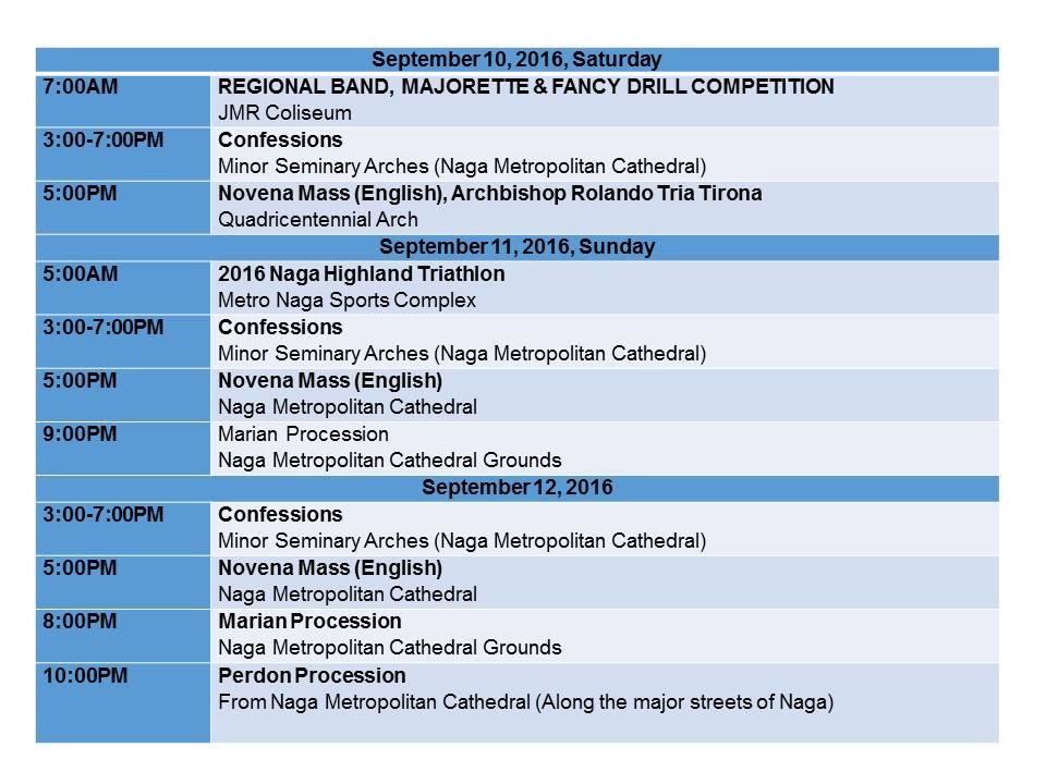 Peñafrancia Fiesta 2016 Schedule_p3