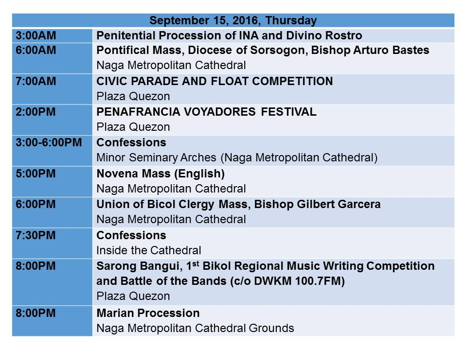 Peñafrancia Fiesta 2016 Schedule_p5