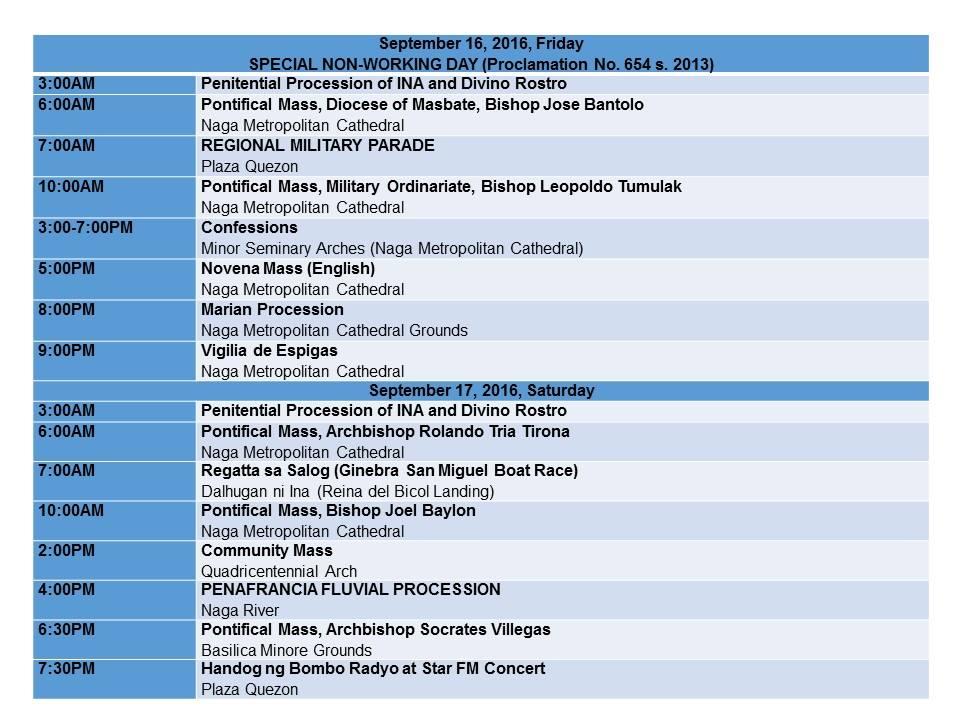 Peñafrancia Fiesta 2016 Schedule_p6