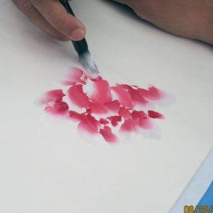 Felix Chan Lim paints peony flower