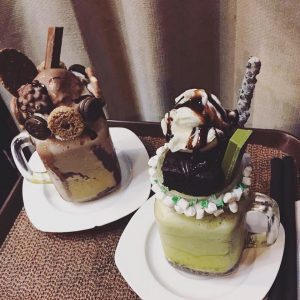 Choco and Matcha Shake - Travel Cafe Ph