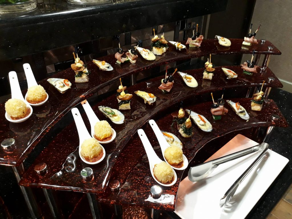 villa caceres hotel rjs buffet appetizers