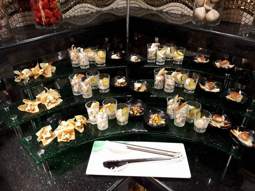 villa caceres hotel rjs buffet hors d'oeuvres