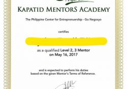 Certified Go Negosyo Mentor