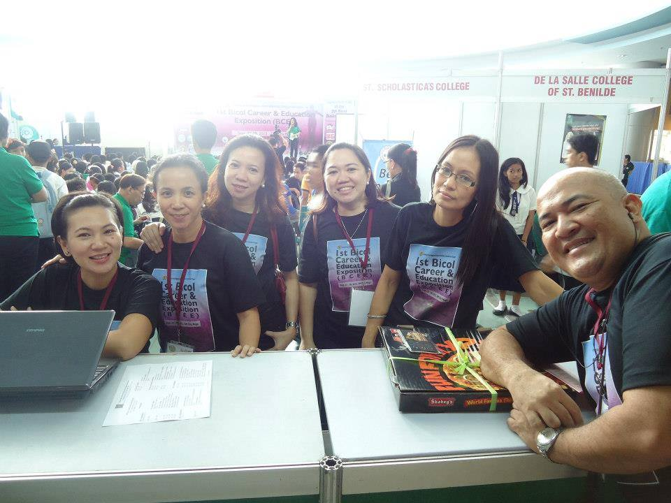 UPAA members at the 1st Bicol Career and Education Expo